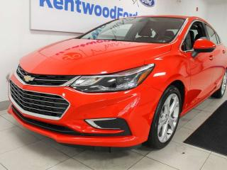Used 2018 Chevrolet Cruze Premier FWD with heated power leather seats and a back up camera for sale in Edmonton, AB