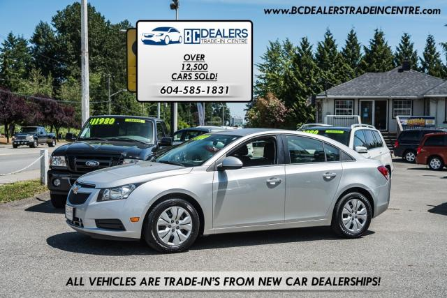 2012 Chevrolet Cruze LT Turbo, Local, No Accidents, Bluetooth, Clean!