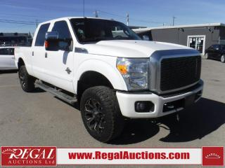 Used 2015 Ford F-350 PLATINUM CREW CAB 4WD for sale in Calgary, AB