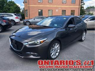 Used 2017 Mazda MAZDA3 GT-SUNROOF/BACKUP CAM/TECH/1.90%, C.P.O!!! for sale in Toronto, ON
