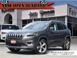 Used 2019 Jeep Cherokee Limited 4x4   Heated Leather   Back UP CAM for sale in Burlington, ON