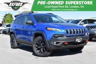 Used 2017 Jeep Cherokee Trailhawk - One Owner, Sunroof, UConnect/Bluetooth for sale in London, ON