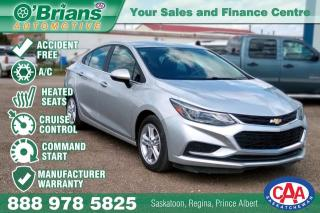 Used 2017 Chevrolet Cruze LT - Accident Free! w/Mfg Warranty, Command Start for sale in Saskatoon, SK