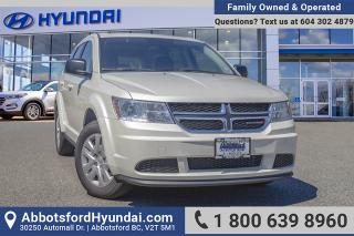Used 2017 Dodge Journey CVP/SE VERY LOW KILOMETRES, ACCIDENT FREE & BC OWNED for sale in Abbotsford, BC