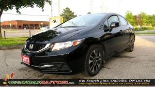 Used 2013 Honda Civic EX|NO ACCIDENT|SUNROOF|ALLOYS|BACK UP CAMERA for sale in Oakville, ON