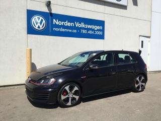 Used 2015 Volkswagen Golf GTI 2.0 TSI AUTOBAHN MANUAL - LEATHER / TECH PKG / VW CERTIFIED for sale in Edmonton, AB