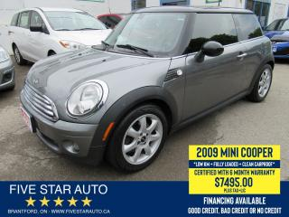 Used 2009 MINI Cooper *Clean Carproof* Certified w/ 6 Month Warranty for sale in Brantford, ON