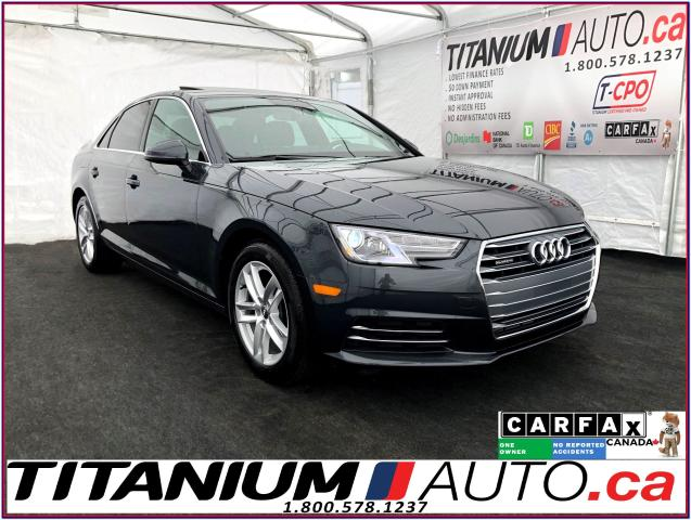 2017 Audi A4 Quattro+Brown Leather+Back Up Sensors+Apple Play+