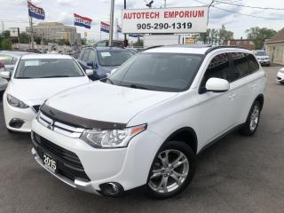 Used 2015 Mitsubishi Outlander ES AWD Heated Leather/Sunroof/Alloys&GPS* for sale in Mississauga, ON