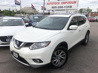 Used 2015 Nissan Rogue SL AWD BACKUP CAMERA/LEATHER/PANO SUNROOF&GPS for sale in Mississauga, ON