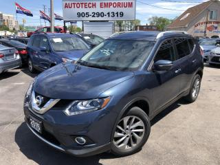 Used 2015 Nissan Rogue SL PREM TECH  AWD/NAVIGATION/CAMERA/LEATHER/SUNROOF for sale in Mississauga, ON