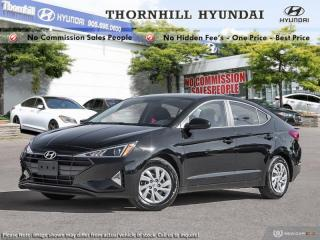 New 2019 Hyundai Elantra Essential AT  -  Bluetooth for sale in Thornhill, ON