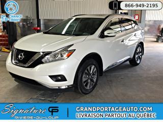 Used 2017 Nissan Murano AWD 4 portes SV for sale in Rivière-Du-Loup, QC