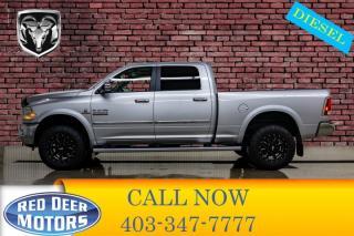 Used 2013 RAM 3500 4x4 Crew Cab Laramie Diesel Leather Roof Nav for sale in Red Deer, AB