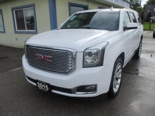 Used 2015 GMC Yukon XL LOADED DENALI MODEL 7 PASSENGER 6.2L - V8.. 4X4.. CAPTAINS.. 3RD ROW.. LEATHER.. NAVIGATION.. SUNROOF.. DUAL DVD PLAYER.. BACK-UP CAMERA.. for sale in Bradford, ON