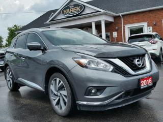 Used 2016 Nissan Murano Platinum AWD, Leather Heated/Cooled Seats, NAV, Pano Roof, Remote Start for sale in Paris, ON
