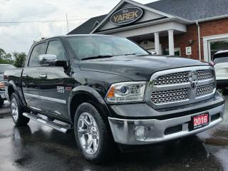 Used 2016 RAM 1500 Laramie 4x4 Ecodiesel, NAV, Sunroof, Leather Heated/Vented Seats, Remote Start, Back Up Cam/Sensors for sale in Paris, ON