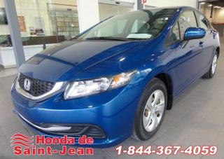 Used 2014 Honda Civic LX 4 portes CVT A/C Camera for sale in St-Jean-Sur-Richelieu, QC