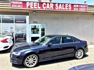 Used 2016 Audi A4 PROGRESSIVE|NAVI|SUNROOF|LEATHER|78KM|BLUEONBLK for sale in Mississauga, ON