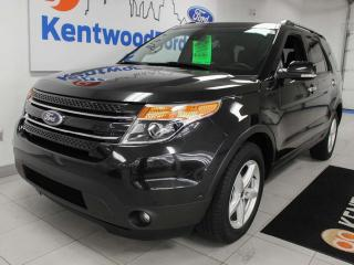 Used 2015 Ford Explorer Limited 4WD with NAV, sunroof, heated/cooled power leather seats, heated steering wheel, heated rear seats, power third row seating, power liftgate for sale in Edmonton, AB