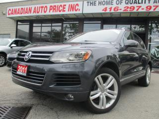 Used 2011 Volkswagen Touareg TDI Highline-AWD-NAVI-LTHER-CAMERA-ROOF-BLUETOOTH for sale in Scarborough, ON