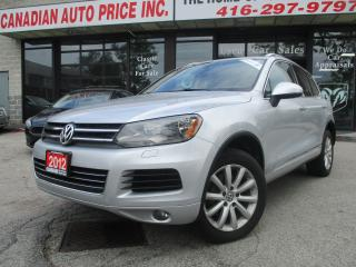 Used 2012 Volkswagen Touareg TDI-AWD-Comfortline-LAETHER-PANO-ROOF-LOADED for sale in Scarborough, ON