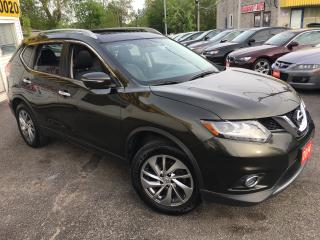 Used 2014 Nissan Rogue SL/ LEATHER/ SUNROOF/ NAVI/ 360 CAM/ ALLOYS & MORE for sale in Scarborough, ON