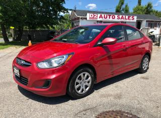 Used 2012 Hyundai Accent 1 Owner/Certified/5 Speed Manual/4 Cylinder for sale in Scarborough, ON