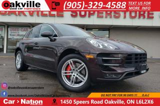 Used 2017 Porsche Macan TURBO | NAVI | HTD SEATS | BLUETOOTH | 400HP for sale in Oakville, ON