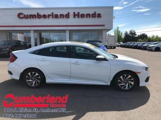 Used 2016 Honda Civic Sedan EX  - Sunroof -  Bluetooth for sale in Amherst, NS