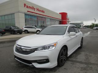 Used 2017 Honda Accord Sport, FREE WARRANTY, REVERSE CAMERA for sale in Brampton, ON