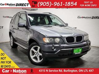 Used 2003 BMW X5 3.0i| AS-TRADED| AWD| SUNROOF| for sale in Burlington, ON