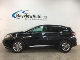 Used 2016 Nissan Murano SV - PANOROOF! HTD LEATHER! PWR LIFTGATE! BLACK! + MORE! for sale in Belleville, ON
