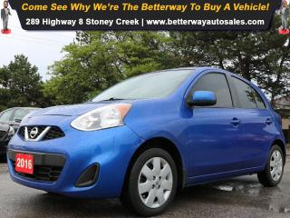 Used 2016 Nissan Micra SV| B-Tooth| Keyless Ent| Gas Saver! for sale in Stoney Creek, ON