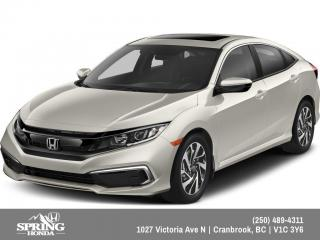 New 2019 Honda Civic EX $160 BI-WEEKLY - $0 DOWN for sale in Cranbrook, BC