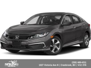 New 2019 Honda Civic LX $145 BI-WEEKLY - $0 DOWN for sale in Cranbrook, BC