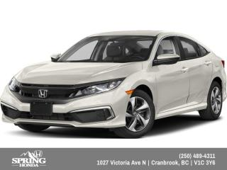 New 2019 Honda Civic LX $147 BI-WEEKLY - $0 DOWN for sale in Cranbrook, BC