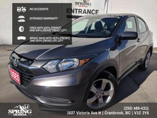 Used 2016 Honda HR-V LX EXTENDED WARRANTY, NO ACCIDENTS, ONE OWNER, LOCAL TRADE - $141 BI-WEEKLY - $0 DOWN for sale in Cranbrook, BC