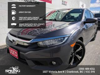 Used 2018 Honda Civic Touring FACTORY WARRANTY, GREAT ON FUEL, 2 SETS OF KEYS, LOCAL TRADE - $138 BI-WEEKLY - $0 DOWN for sale in Cranbrook, BC