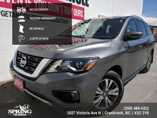 Used 2018 Nissan Pathfinder SV Tech NO ACCIDENTS, FACTORY WARRANTY, 2 SETS OF KEYS, BC VEHICLE - $188 BI-WEEKLY - $0 DOWN for sale in Cranbrook, BC