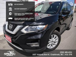 Used 2018 Nissan Rogue SV NO ACCIDENTS, FACTORY WARRANTY - PANORAMIC MOONROOF, TIRES WITH 70% TREAD LEFT - $168 BI-WEEKLY - $0 for sale in Cranbrook, BC