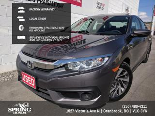 Used 2018 Honda Civic EX $135 BI-WEEKLY - $0 DOWN for sale in Cranbrook, BC