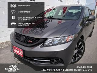 Used 2013 Honda Civic Si NO ACCIDENTS, 2 SETS OF KEYS, LOCAL TRADE,  TIRES WITH 88% (FRONT) AND 77% TREAD LEFT - $112 BI-WEEK for sale in Cranbrook, BC