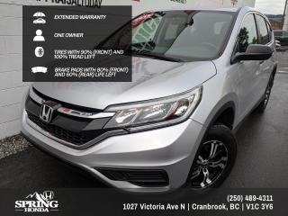 Used 2015 Honda CR-V LX EXTENDED WARRANTY, WELL MAINTAINED, ONE OWNER, NEW WINDSHIELD - $151 BI-WEEKLY - $0 DOWN for sale in Cranbrook, BC