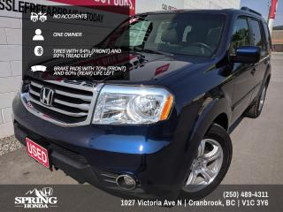 Used 2015 Honda Pilot EX-L NO ACCIDENTS, ONE OWNER, NEW WINDSHIELD, FACTORY WARRANTY - $227 BI-WEEKLY - $0 DOWN for sale in Cranbrook, BC
