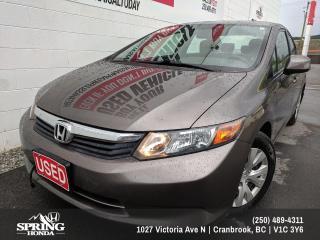 Used 2012 Honda Civic LX $90 BI-WEEKLY - $0 DOWN for sale in Cranbrook, BC