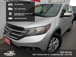Used 2013 Honda CR-V Touring NO ACCIDENTS, NEW BRAKES, TIRES WITH 84% TREAD LEFT, WELL MAINTAINED - $147 BI-WEEKLY - $0 DOWN for sale in Cranbrook, BC