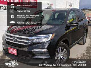 Used 2016 Honda Pilot EX-L Navi EXTENDED WARRANTY, NEW WINDSHIELD, DVD PLAYER, ONE OWNER, LOCAL TRADE - $234 BI-WEEKLY - $0 DOWN for sale in Cranbrook, BC