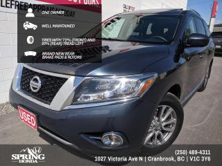 Used 2015 Nissan Pathfinder WELL MAINTAINED, ONE OWNER, NEW WINDSHIELD, NEW REAR BRAKES, PREMIUM TECH PACKAGE - $173 BI-WEEKLY - for sale in Cranbrook, BC
