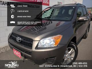 Used 2009 Toyota RAV4 REMOTE STARTER, NEW TIRES, 2 SETS OF KEYS, LOCAL TRADE - $139 BI-WEEKLY - $0 DOWN for sale in Cranbrook, BC